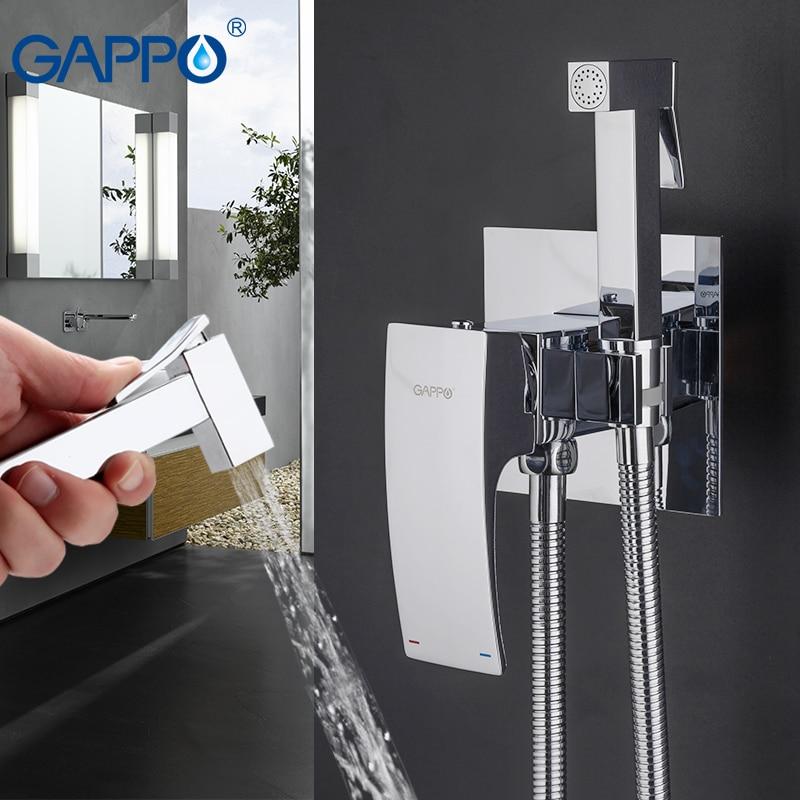 GAPPO Bidet Faucets brass toilet spray faucet chrome plating faucet bidet bathroom bidet shower toilet water spray bath showers-in Bidets from Home Improvement    1