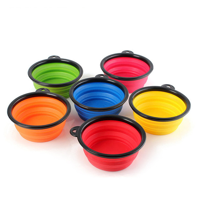 Portable Dog Water Bowl >> Aliexpress Com Buy Silicone Portable Dog Water Bowl Foldable Puppy