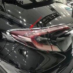 TOMEFON dla Toyota C-HR CHR 2016 2017 2018 tylnego światła tylne światła tylne światło formowanie ramki pokrywa wykończenia akcesoria zewnętrzne ABS