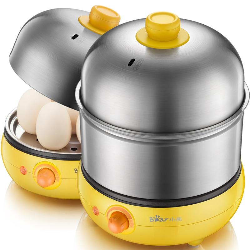 Multi Functional Household Electric Egg Steamer Breakfast Making Machine Double Stainless Steel Egg Boilers Fried Eggs Tool multi functional stainless steel keychain black 2 pcs