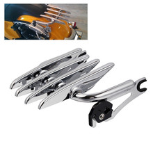 Motorcycle Detachable Stealth Luggage Rack For Harley Electra Street Glide 2009-2018 Road Glide Ultra Custom Chrome chrome custom motorcycle skeleton bone mirrors for harley davidson street glide