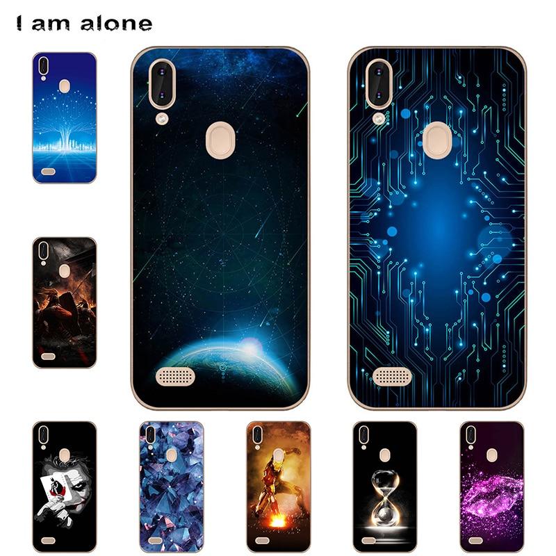 I am alone Phone Cases For Leagoo M11 2018 6.18 inch Soft TPU Mobile Cute Cartoon Printed For Leagoo M11 Bags Free Shipping
