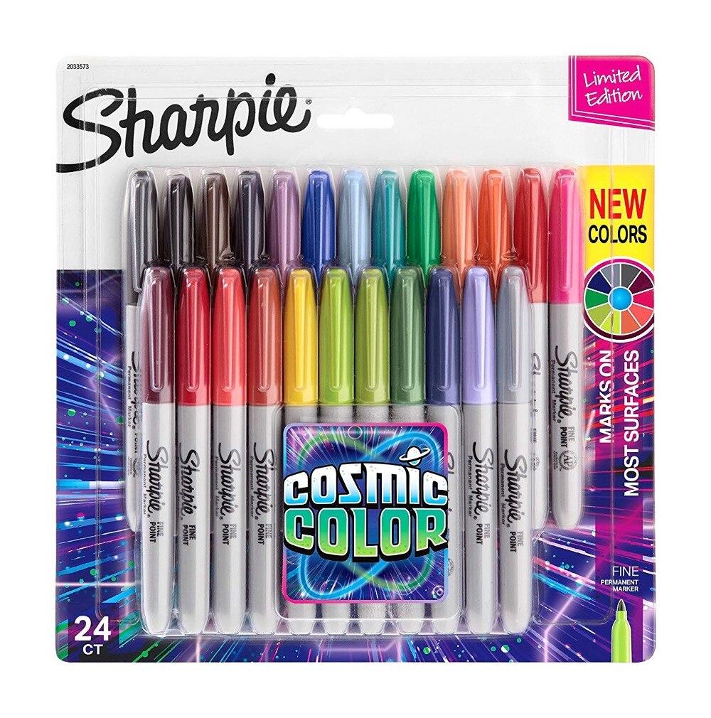 Us 19 9 الأفضل مبيعا جديد شاربي 31993 مجموعة أقلام فنية دائمة 12 لون مجموعة 24 لون في أقلام ماركر من لوازم المكتب واللوازم المدرسية على