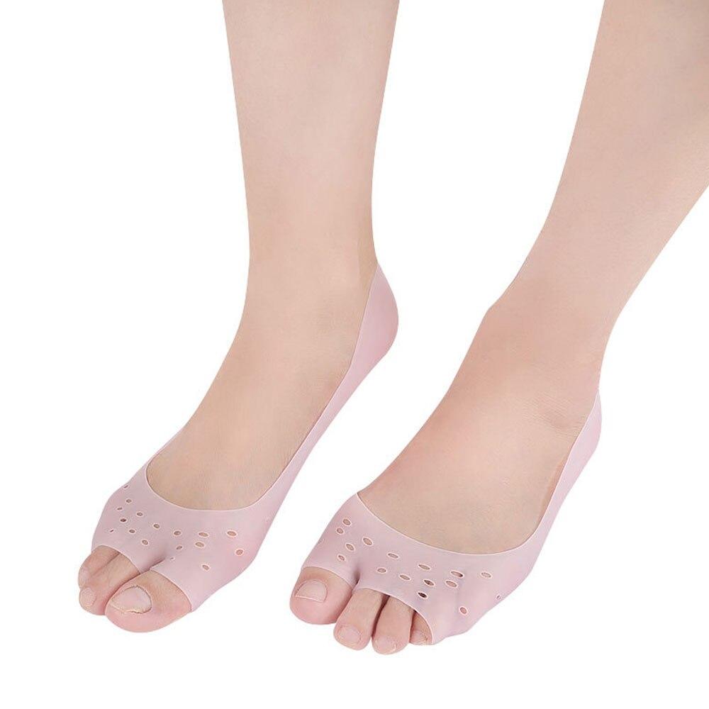 1 par de calcetines hidratantes de Gel de silicona protector Cuidado del pie, previene fascitis Plantar y Metatarsalgia, callos