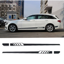 2pcs Edition 1 Style Side Skirt Stripe Sticker for Mercedes Benz S205 C Class W205 Estate C180 C200 C230 C280 C300 C63 AMG