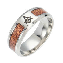 Jingyang Steel Wood Masonic Rings For Women Men Silver Color Jewelry Fashion Wedding Band Cross Tree Of Life Ring стоимость