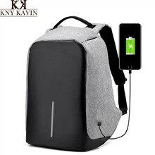 Kny kavin kk 2017 nuevo diseño usb de carga mochila mochilas 15 pulgadas bolsa de ordenador portátil de múltiples funciones de gran capacidad de viaje bolsas casuales
