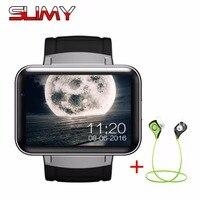 Schleimiges Fabrik DM98 3G Smart Uhr Android OS MTK6572 2,2 Zoll bildschirm 900 mAh Batterie 512 MB Ram 4 GB Rom WCDMA GPS WIFI Smartwatch
