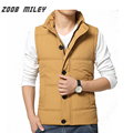 ZOOB MILEY Winter Men Vest Plus Size M-3XL Warm Thickening Waistcoat Causal Male Sleeveless Jackets Outerwear