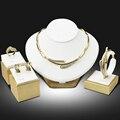 Chapado En Oro de Dubai Sistemas de La Joyería Nigeriano Perlas Africanas de la Boda Joyería Nupcial De Cristal Rhinestone Joyas De Etiopía