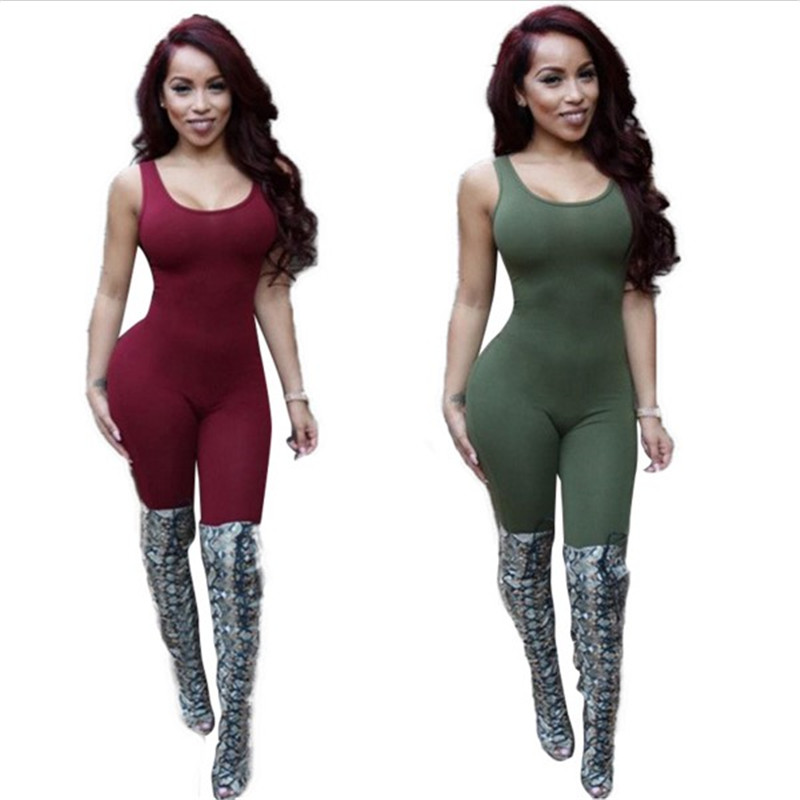 Bodycon Sexy Jumpsuit Club Jumpsuit Bodysuit Fashion Backless ...