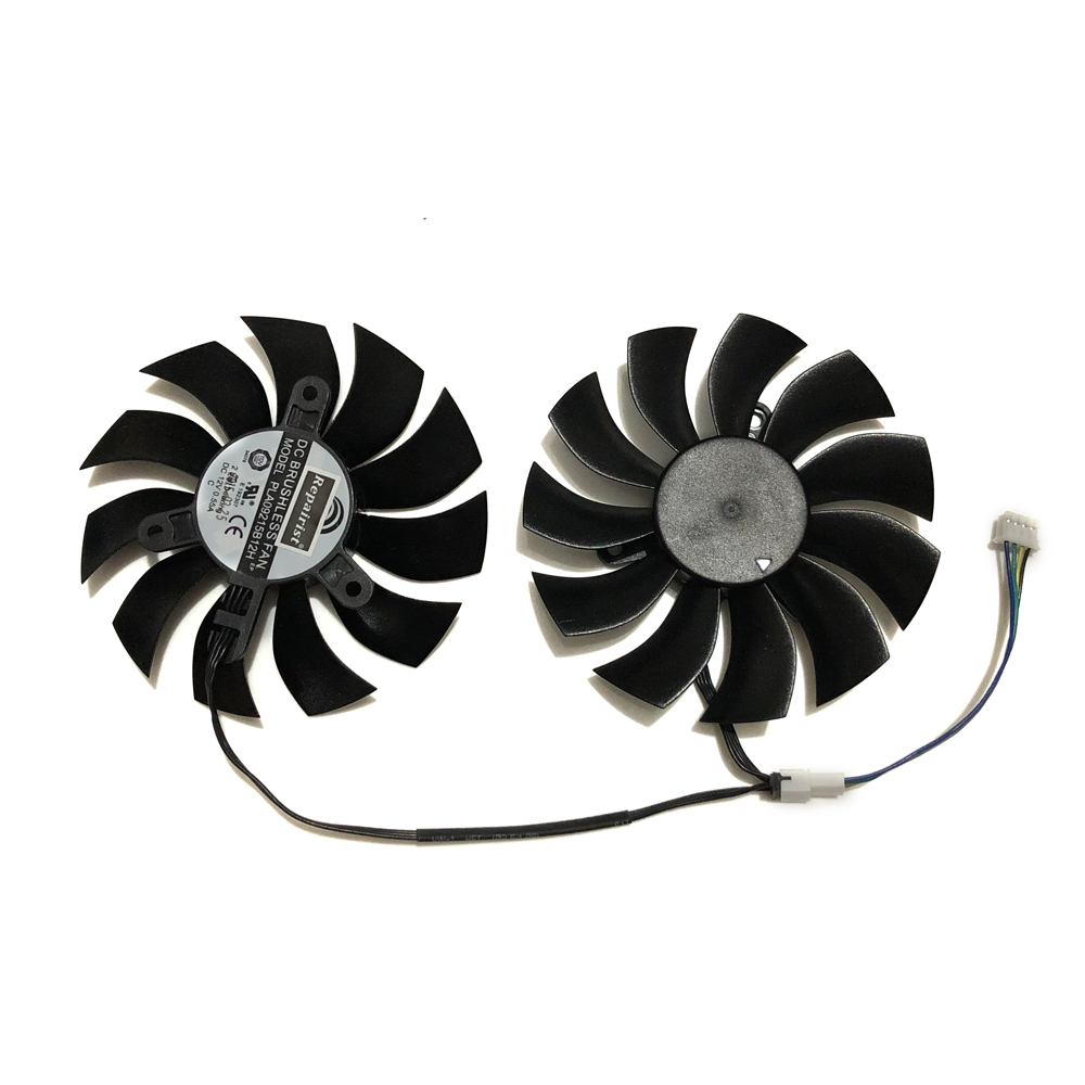 2Pcs/set PLA09215B12H GTX970 GPU VGA Cooler Graphics Card Fan For EVGA GTX 970 ACX2.0 Video Cards Cooling System As Replacement free shipping radiator computer cooler fan cooling msi gtx980 gtx 970 gaming video vga graphics card