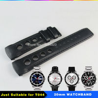 20mm T044 Watch Strap Durable Soft Genuine Leather Watchband Wrist Bracelet T044 Watches Man Group 20mm