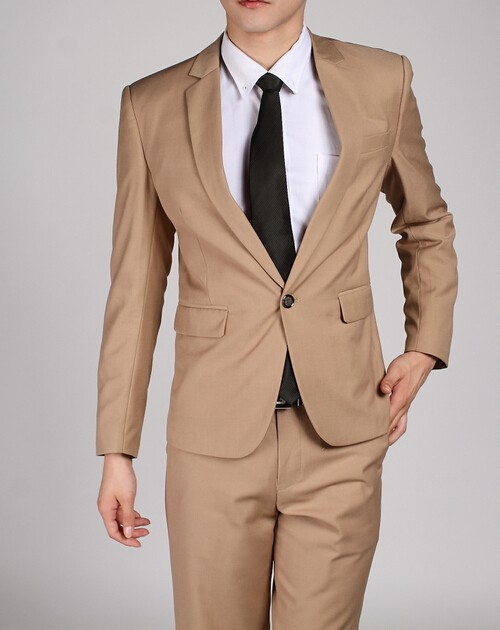 one button beige 1
