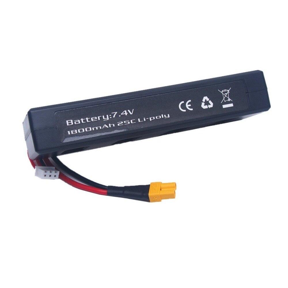 купить Saleaman 1PC 7.4v 1800mah 25C Li-poly Battery for MJX B3 Bugs 3 Force1 F100 Contixo F17 RC quadcopter drone spare parts RC Parts по цене 812.22 рублей