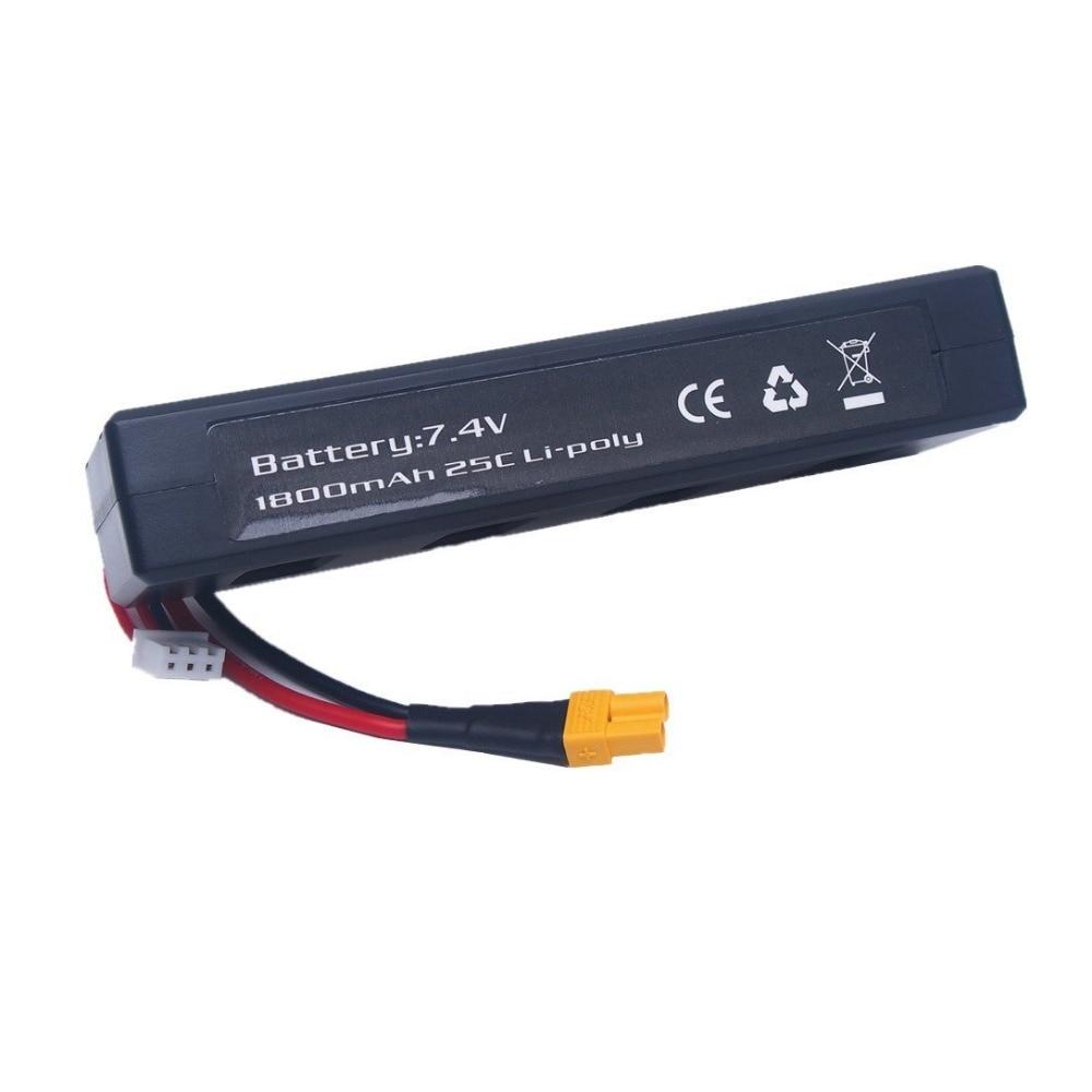 Saleaman 1PC 7.4v 1800mah 25C Li-poly Battery for MJX B3 Bugs 3 Force1 F100 Contixo F17 RC quadcopter drone spare parts RC Parts