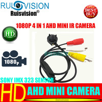MINI AHD 1080P/2MP 4 IN 1 SONY IMX 323 sensor 940NM IR LED night vision cctv camera for Home Surveillance video camera free