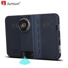 Junsun 7 pulgadas Android de Navegación GPS Del Coche 16 GB DVR Videocámara Cámara de Vista Trasera con Detector de Radar Navegador dash de Mapas de Por Vida cam