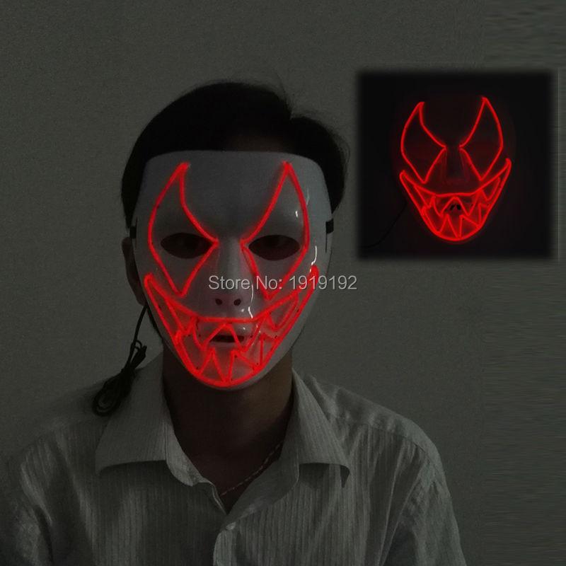 Haunted EL razsvetljava plastična maska za morskega psa z 2p - Prazniki in zabave - Fotografija 2