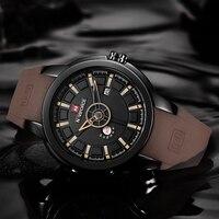 Роскошные для мужчин часы бренд Военная Униформа NAVIFORCE аналоговые кварцевые 3D уход за кожей лица резиновые часы человек спортивные