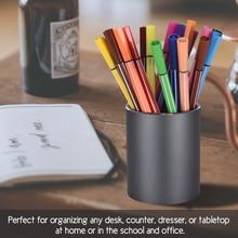 Office accessories Pen Pencil Storaged Organizer Aluminum Round DeskContainer  Stationery Brush Pot Holder Gift for Home School