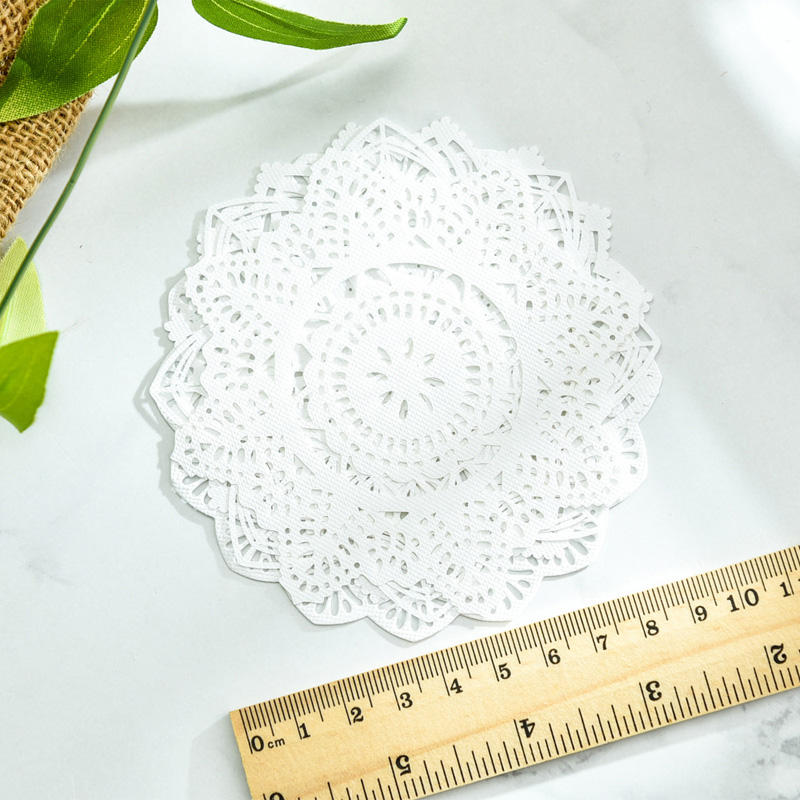 KSCRAFT White Lace Paper Doilies/Placemats for Wedding Party Decoration Supplies Scrapbooking Paper Crafts 6