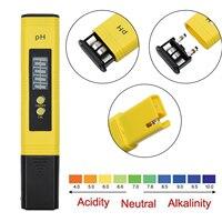 Pro digital medidor de ph hidroponia água bolso caneta tester aquário lagoa teste lcd|Peças e Acessórios| |  -