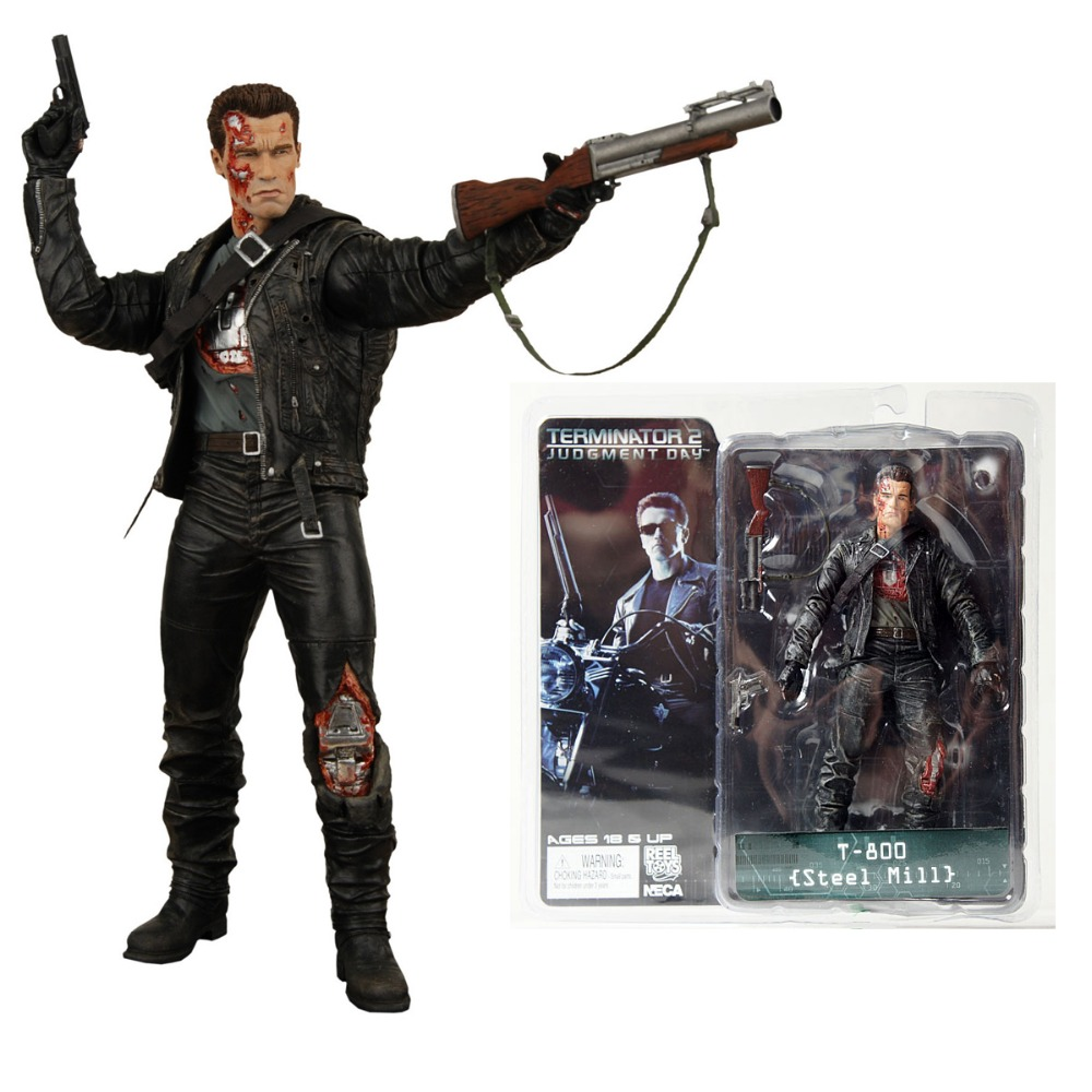 Hot Neca Terminator 2 S3 Series 3 T-800 Steel Mill 7″ Action Figure Free Shipping