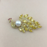 Sinya Natura Pearl Brooch High luster 11 12mm freshwater pearls color optioanl Gold plated high quality fashion jewelry for Mum