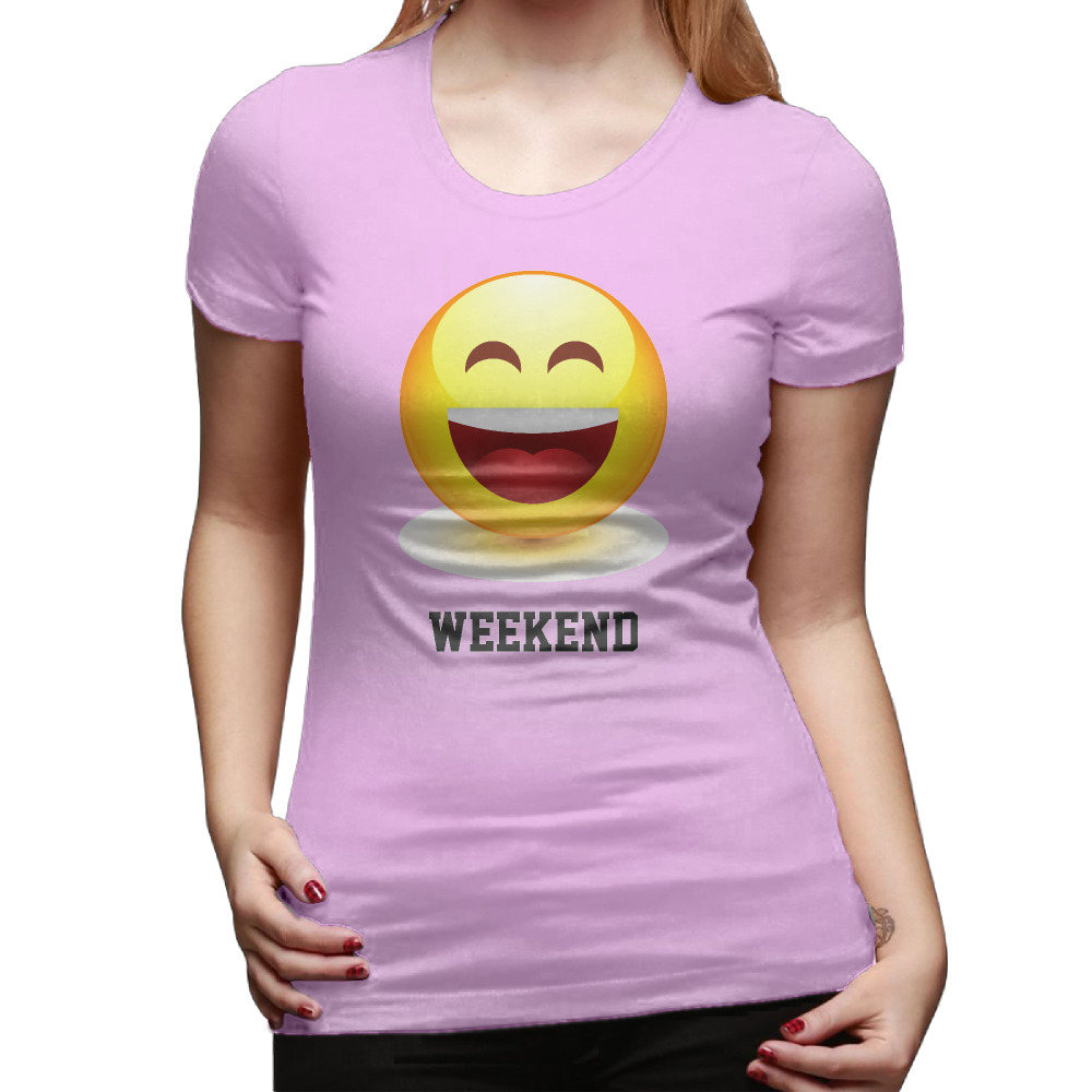 Gildan 2017 New Weekend Working Day Emoji,Smile T Shirt Women O-neck Rock Roll Pattern Tops Casual Short Sleeve Tee Shirts ...