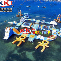 Water sports game equipment combination inflatable aqua park