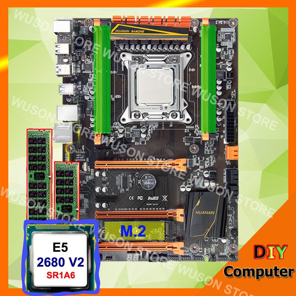 HUANAN ZHI deluxe X79 LGA2011 carte mère processeur Xeon E5 2680 V2 SR1A6 RAM 32g (2*16g) DDR3 1600 RECC