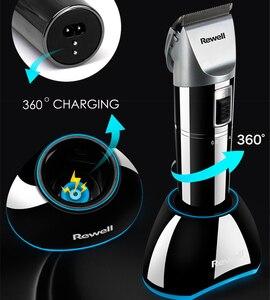 Image 5 - Rewell tondeuse à cheveux professionnelle, Rechargeable, batterie au Lithium, en alliage de titane, pour coiffeur, Turbo