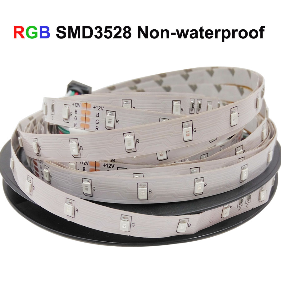 RiRi won SMD RGB LED Strip Light 5050 2835 10M 5M LED Light rgb Leds tape RiRi won SMD RGB LED Strip Light 5050 2835 10M 5M LED Light rgb Leds tape diode ribbon Flexible Controller DC 12V Adapter set