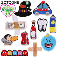 ZOTOONE DIY Embroidered Patches for Clothing T-shirt Jeans Dress Wild Cute Cartoon Loving Heart Letters Iron on Badges E