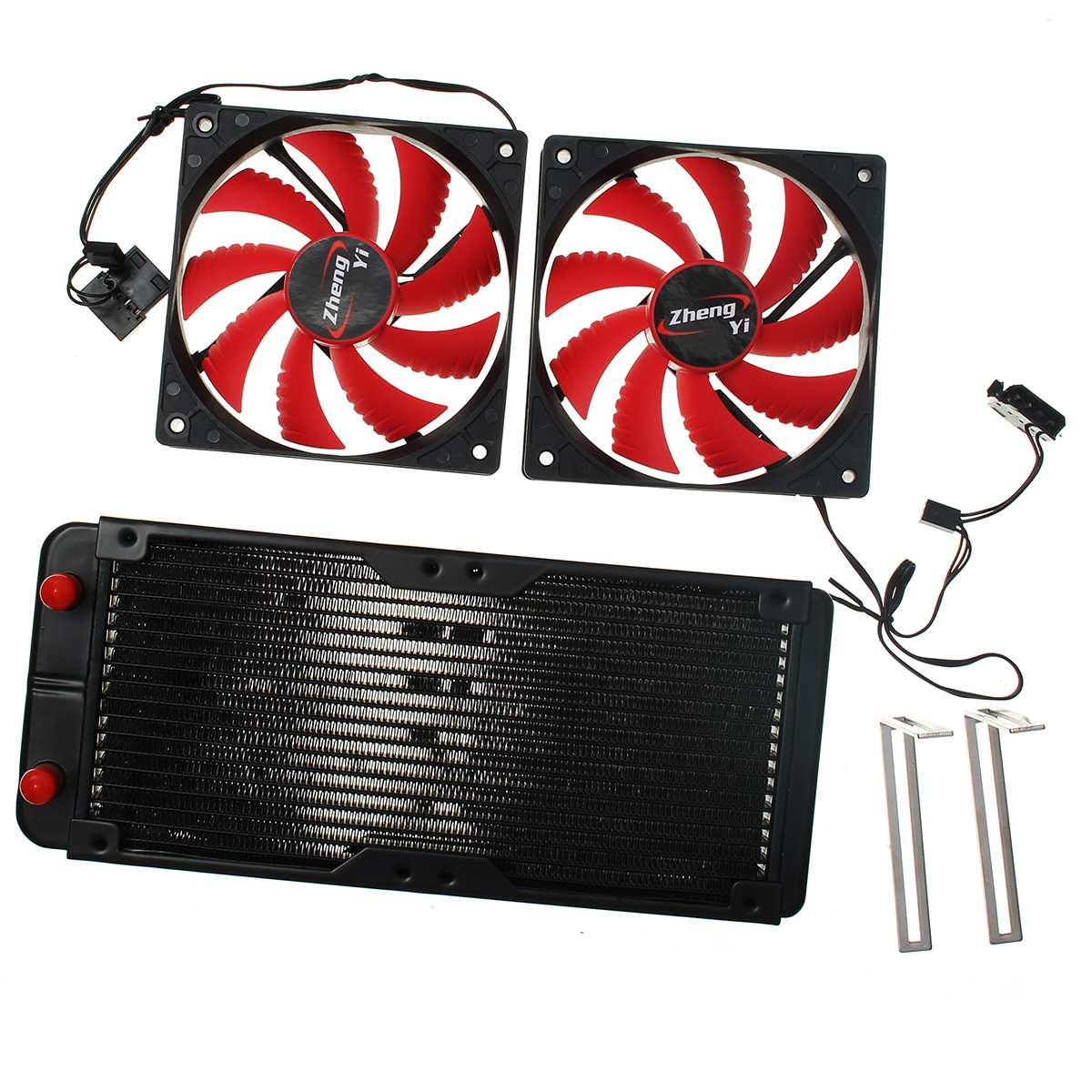Kit de refroidissement à eau 240 radiateur CPU GPU bloc pompe réservoir tube Barb 3/8 ID pour Intel LGA 1150 1155 1151 ordinateur CPU