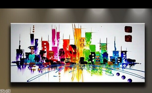Pintado a mano abstracta moderna pintura al leo de la for Decoracion moderna contemporanea del hogar