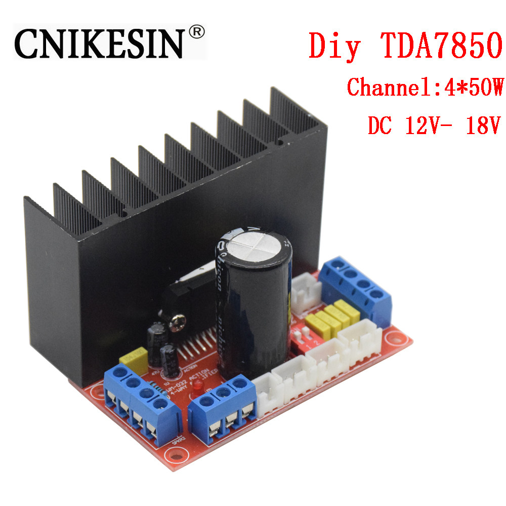 Online Shop Cnikeisn Tda7388 Amplifier Board 4 Channel Car Tda7560 Circuit Wiring Diagram Must Know Cnikesin Tda7850 Diy 450w Electronic