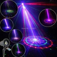 Eshiny Outdoor Waterproof RGB Laser 12 Patterns Projector Full Holiday House Party Xmas Tree DJ Wall