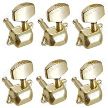 Lefty ,set of Gold Semiclosed Guitar Tuning Pegs keys Tuners Machine Heads