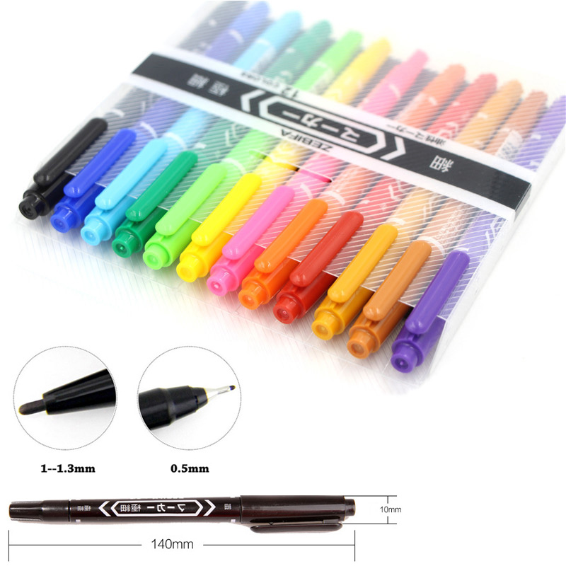 12pcs Colored Dual Head Oil Based Paint Markers Waterproof Quick Dry Pens For DIY Scrapbook Album CD Drawing Decor Stationery