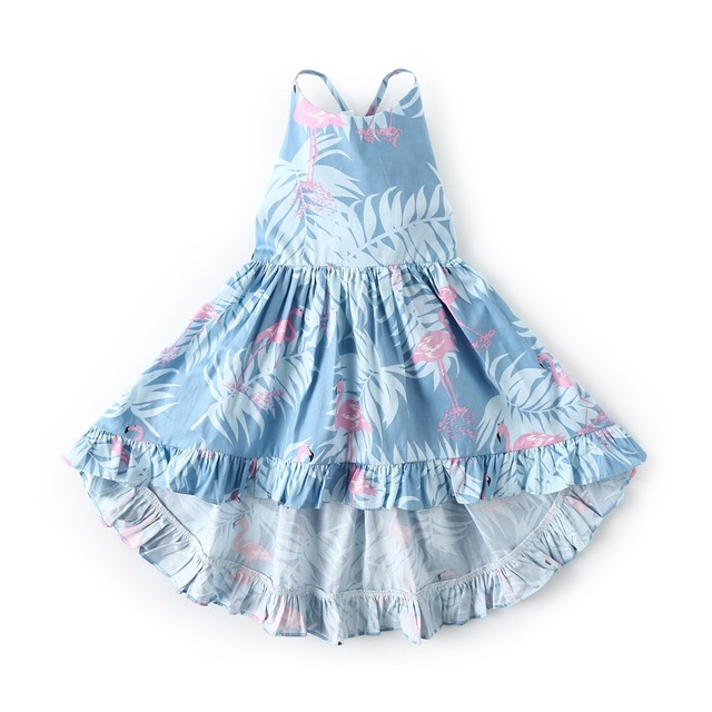 74d00202908bc US $11.45 30% OFF|new 2019 Summer Baby Girls Straps Princess Party Dress  Floral Print Toddlers Kids Backless Holiday Beach Dresses Girls Costumes-in  ...