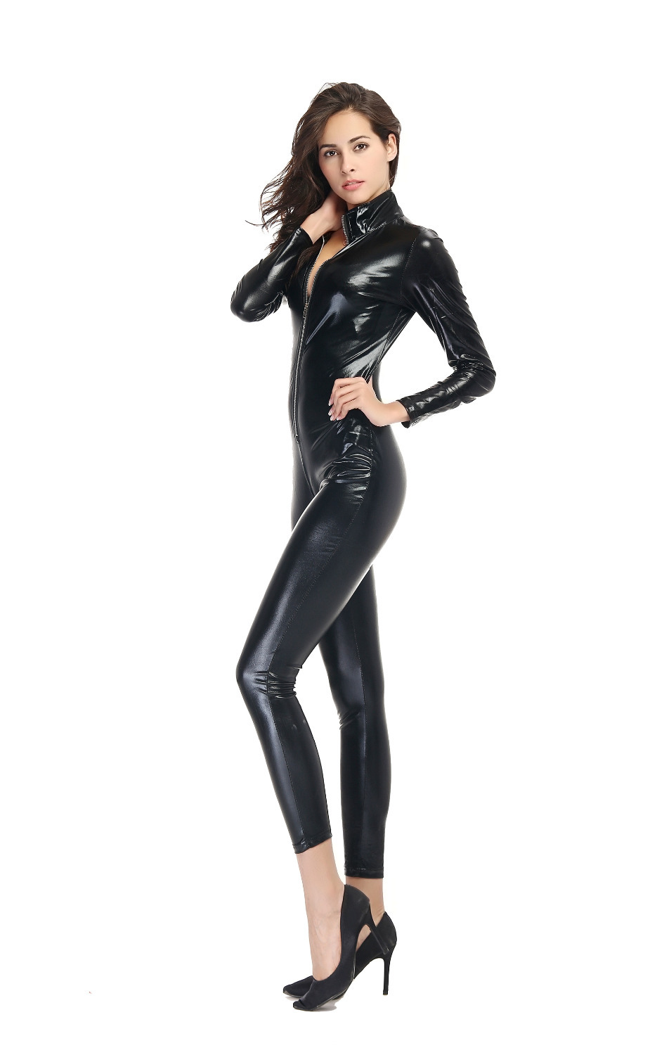 costume Sexy Elegant Locomotive Suit sexy spandex jumpsuits Patent Leather  High Quality Fashion Black jumpsuit XTN048 on Aliexpress.com | Alibaba Group