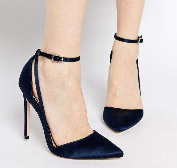 Womens Navy Blue Heels | Fs Heel