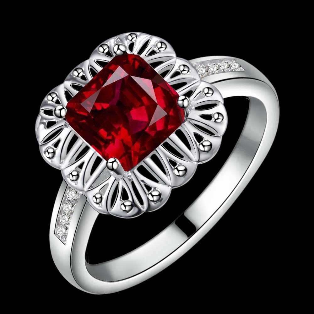 Новейший дизайн, натуральный камень, морской Красный Циркон, 925 ювелирное изделие, посеребренное кольцо, модное Ювелирное кольцо для женщин,/DLVPTNWG CZBAASIS