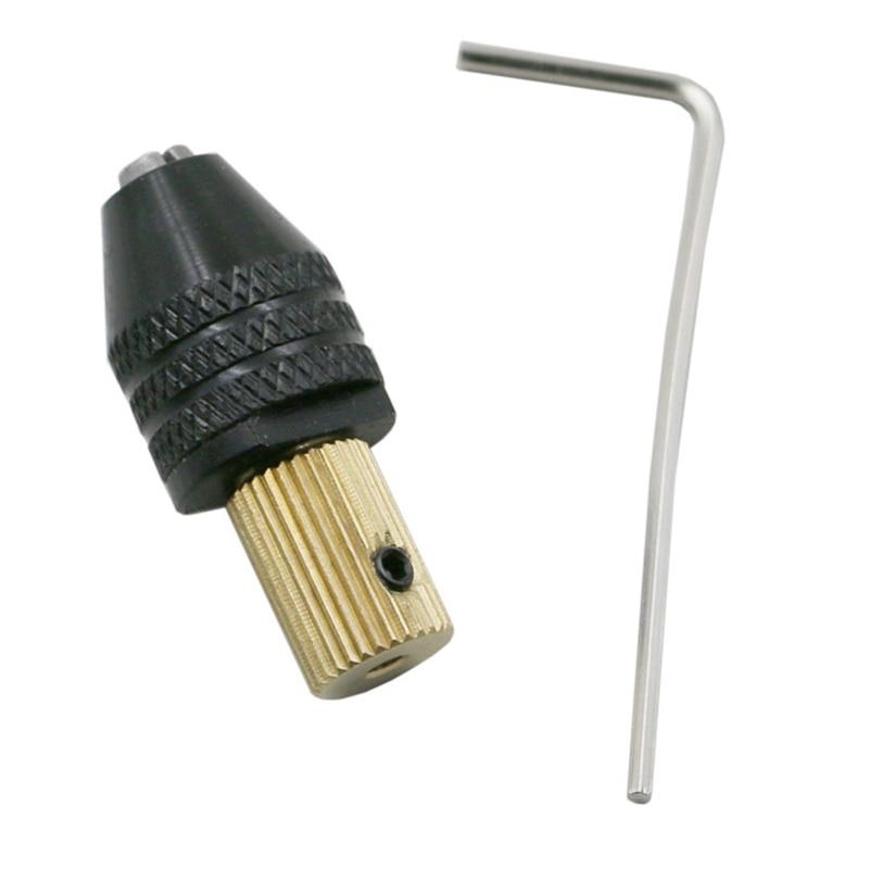 2/2.3/3.17/5.0 mm Electric Motor Shaft Mini Drill Chuck Fixture 0.5-3.2 mm Drill Bit Micro Drill Chuck Hex Drill Chuck Adapter(China)