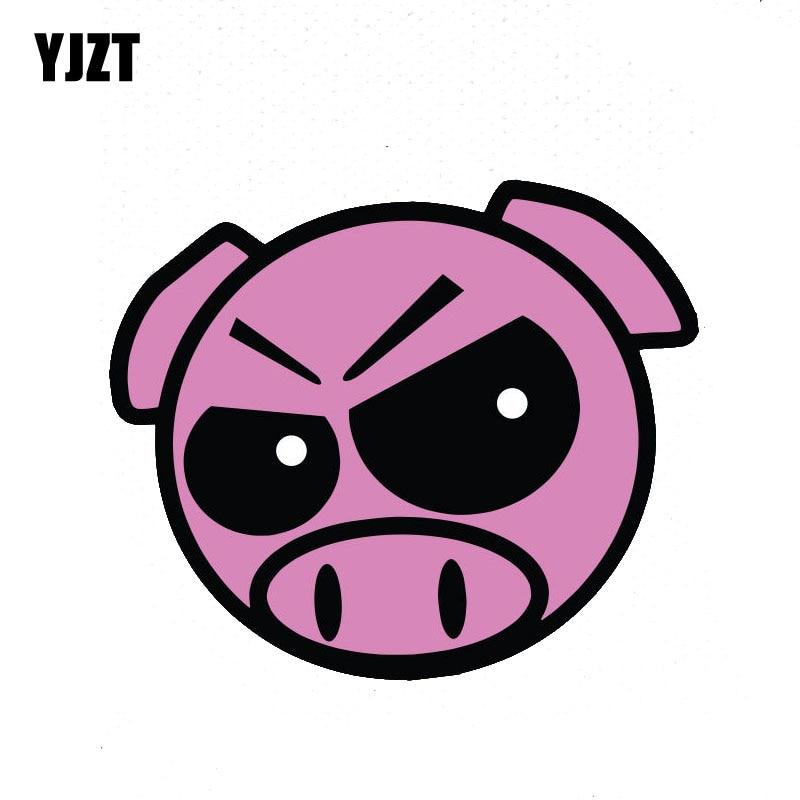 YJZT 13.4CM*11.3CM Interesting EVIL RALLY PIG Car Sticker Car Accessories JDM Decal 6-2263