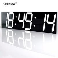 CHkosda LED wall clock large home decor moment timer weather station digital watch table new Year decoration horloge mural klok