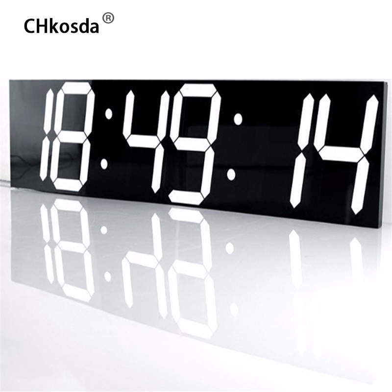 CHkosda LED wall clock large home decor moment timer weather station digital watch table new Year decoration horloge mural klok