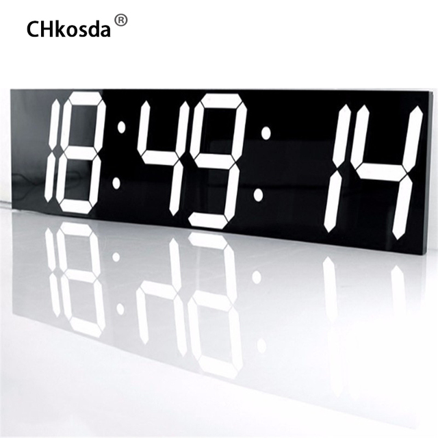 Aliexpress.Com : Buy Chkosda Led Wall Clock Large Home Decor